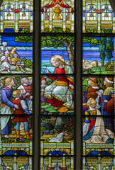 Mechelen - Sermon on the Mount from in St. Rumbold's cathedral