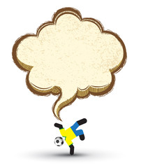 Soccer icons character with Speech Bubble. Vector Illustration