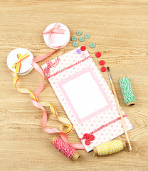 Beautiful hand made post card and scrapbooking elements,