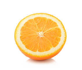 orange slice isolated on nwhite background