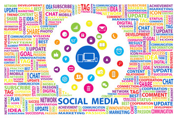 Social Media for marketing online concept