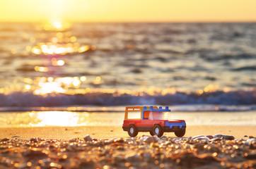 Toy on sea