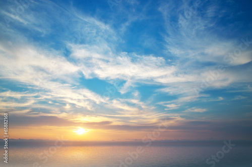 Fotobehang Strand Sky background