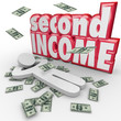 Second Income Money Falling Side Job Work Earn More Cash