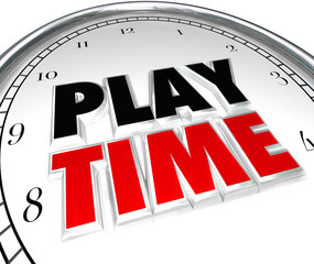Play Time Clock Fun Recreation Recess Sports Activity