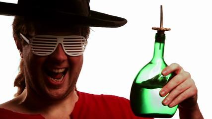 Crazy Rock'n'Roller drinking