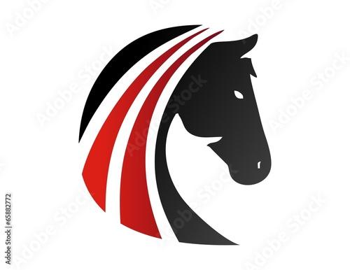 horse logo silhouette head symbol icon