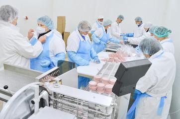 workshop production of sausages
