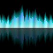 Sound wave with blue colours