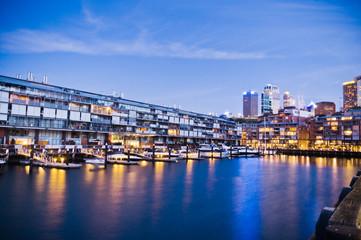evening modern Urban Apartment Building In Sydney, Australia