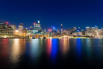 Sydney cbd darling harbour -Fab 04,2010 night scape with nice ev