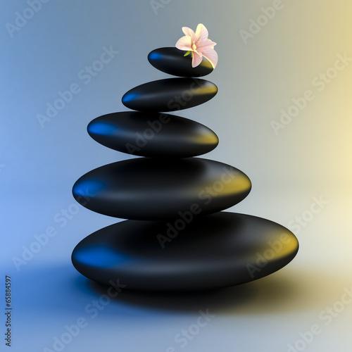 3d zen- spa stones - 65884597