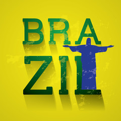 "Typo vector with word ""Brazil"""