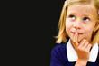 Schoolgirl thinking in the school board