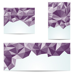 Three abstract triangular banner
