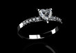diamond ring on  black  background with high quality