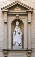 Rome, Vatican City, the statue of St. Gregory the Illuminator Ar