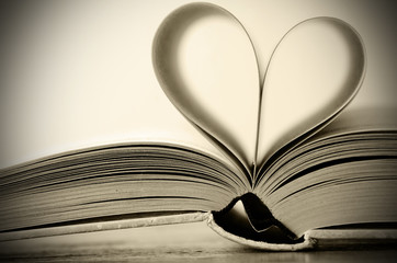 heart shaped book