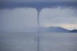Leinwanddruck Bild - Waterspout on the ocean
