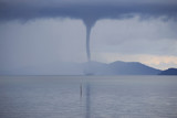 Waterspout on the ocean