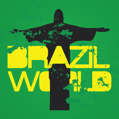 "Typo vector with word ""brazil world"""