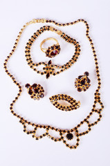 czech garnets jewelry set