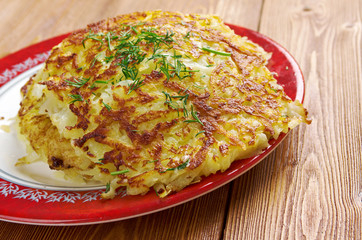 Boxty l Irish potato pancake.
