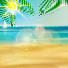 Tropical beach template.