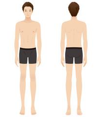 男性 美容 裸 ヌード 全身