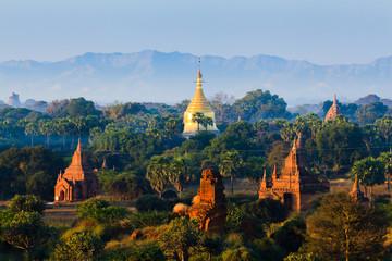 The Temples of bagan at sunrise, Bagan, Myanmar