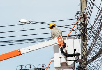 repair electricity post