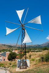 Windpump. Crete, Greece