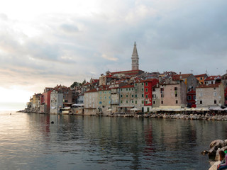 Old town of Rovinj, Croatia. Istria touristic attraction