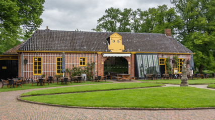 Teahouse near castle the  Fraylemaborg in the Netherlands