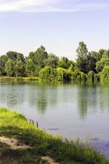 Artificial lake, Gravellona Lomellina, color image