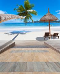 rampe d'accès à la plage pour handicapés, Seychelles