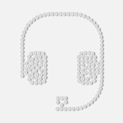pills concept: headphones