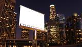 Fototapety billboard in night city