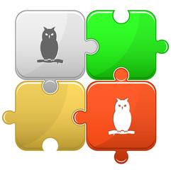 Owl. Vector puzzle.