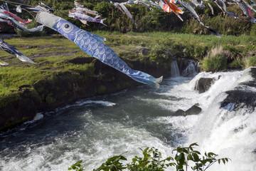 川内川と鯉のぼり