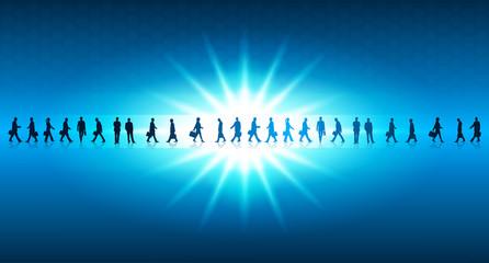 persone, utenti, silhouette, energia solare
