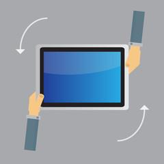 business tablet screen concept Vector
