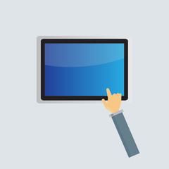 business tablet screen concept Vector
