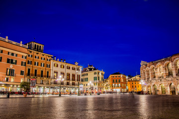 Verona theater during evening hour