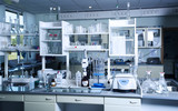 Chemical laboratory background. Laboratory concept.