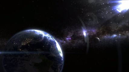 earth in the space - backgroundvideo