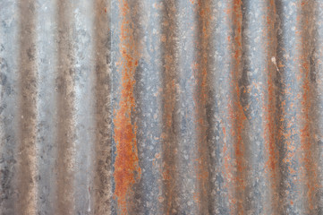 A rusty corrugated iron metal texture..
