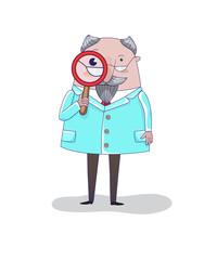 Doctor, vector illustration.