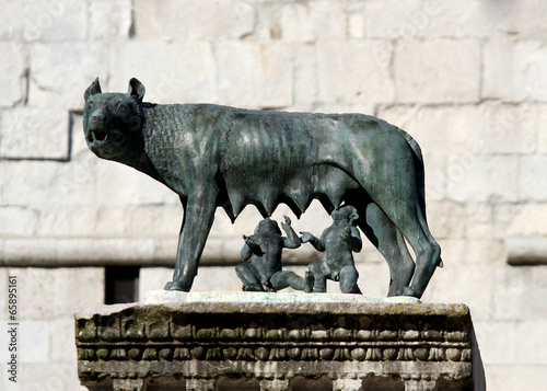 Capitoline Wolf suckling the twin founders of ROME - 65895161