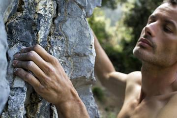 free climber su calcare, Italia